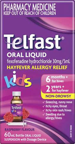 Telfast Oral Liquid - Allergy Medicine for Kids - Telfast AU